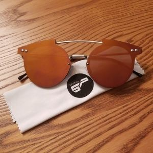 Orange Mirror Spitfire Sunglasses